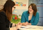 Photograph of a customer getting advice at Elevate Wokingham Careers Centre